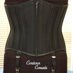 Heavy black leather Corset